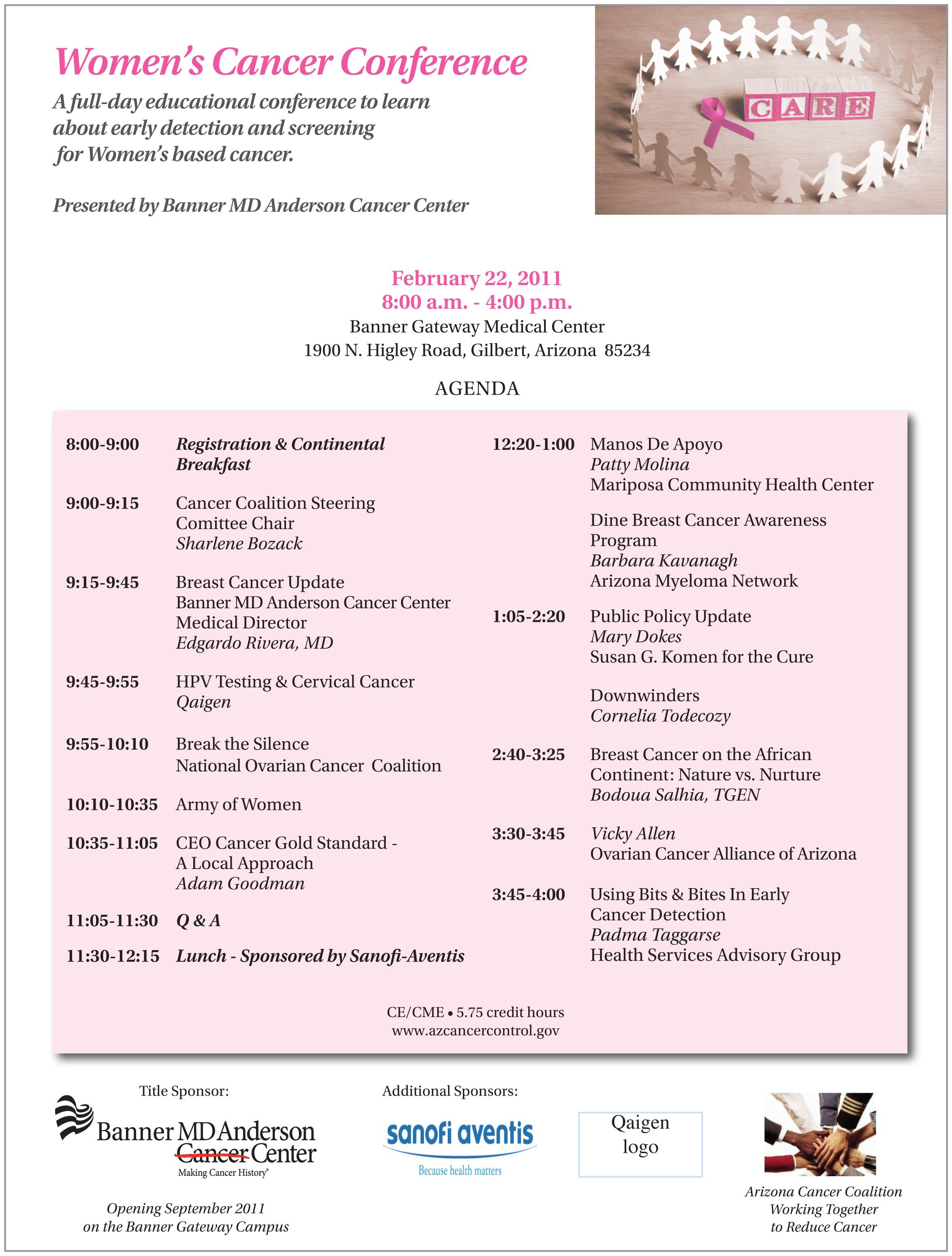 cancer  women u2019s cancer conference  u2013 feb  22nd
